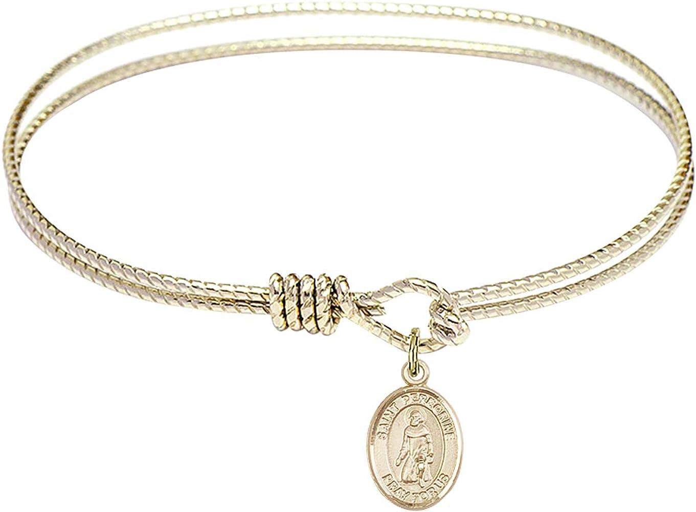Peregrine Laziosi Charm. DiamondJewelryNY Eye Hook Bangle Bracelet with a St