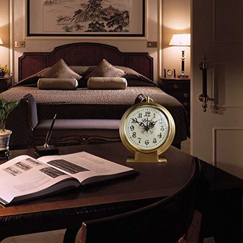 Amazon.com : Family Fireplace Clocks Desktop Watch Tablecloths Creative Living Room Clocks Creativity Pure Copper Decoration ó n 12X 4.3 X 14.3 cm Suitable ...
