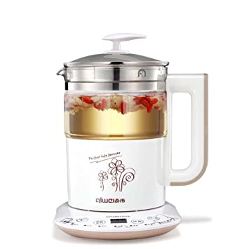 PEIEI- Vaso de agua automático espesado de vidrio Multifuncional calentador de agua eléctrico Tetera té