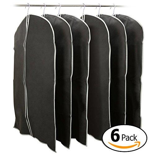 39 inch Garment Bag, EZOWare Black Foldable Breathable Garment Suit Shirt Dress Jacket Coat Dust Cover Travel Bag - Set of - Black Swimwear Fabric