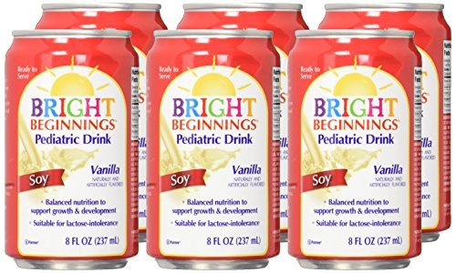 Bright Beginnings Soy Pediatric Drink - Vanilla - 8 oz - 6 pk