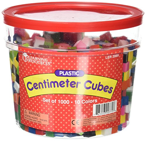 School Smart Centimeter Cubes for Grades K-6 - Set of 1000 - Assorted Colors ()