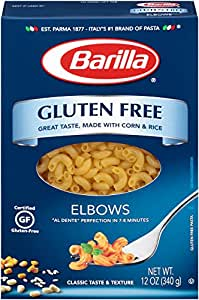 Amazon.com : Barilla Gluten Free Pasta, Elbow, 12 oz ...