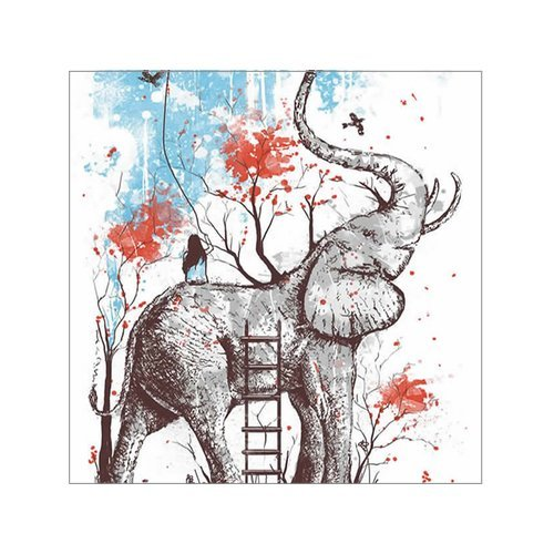 Beautiful Elephants Canvas 16 Stretched product image
