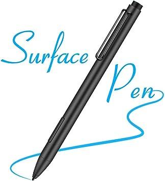 Surfaceペン、タッチスクリーン用スタイラスペン、高精度1024感圧IPADアクティブキャパシティブペンおよびアルミニウムボディ、互換性のあるSurface Studio/Surfaceラップ