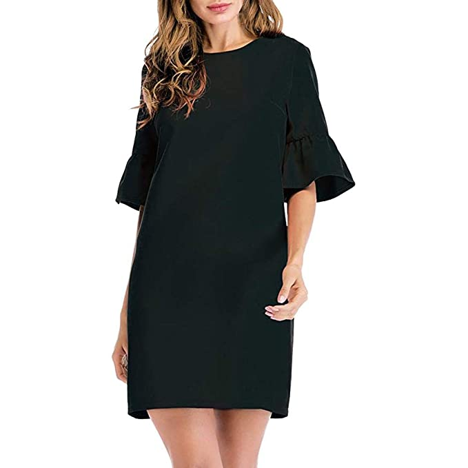 2ec0e6032b031 Image Unavailable. Image not available for. Color  Clearance Sale! Oliviavan  Women s Casual Long Sleeve Dress ...