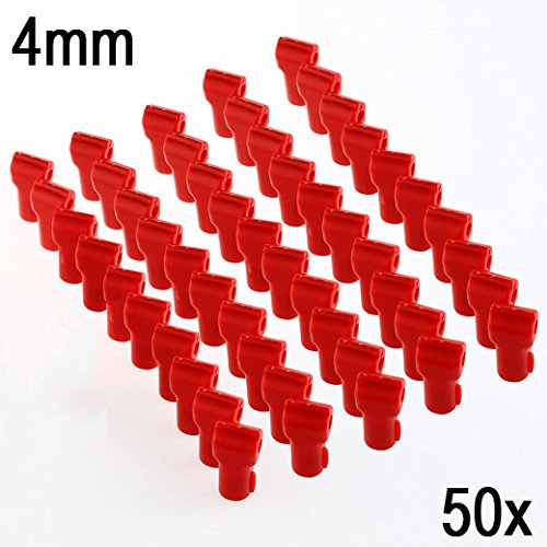123lockz (50 Pack, 4mm, Red) Anti-Theft Magnetic Security Stop Lock for Pegboard, Slat Wall Peg Hook Retail Shop Display by 123lockz
