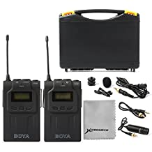 BOYA Unique BY-WM6 UHF Wireless Lavalier Microphone System For Canon Nikon Sony DSLR Camera Camcorder Audio Recorder LF731