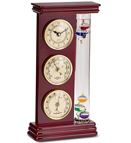 Galileo Weather Station with Clock, Barometer and Thermom...