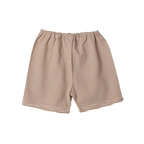 Zutano Candy Stripe Short - Chocolate/Cream, 6 Months ( 0-6 months)