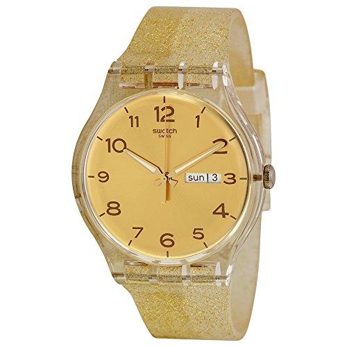 Swatch Unisex SUOK704 Golden Sparkle Analog Display Quartz Gold Watch
