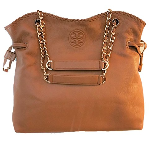 Tory Burch Marion Leather Slouchy Tote - Brown Burch Tory Bag