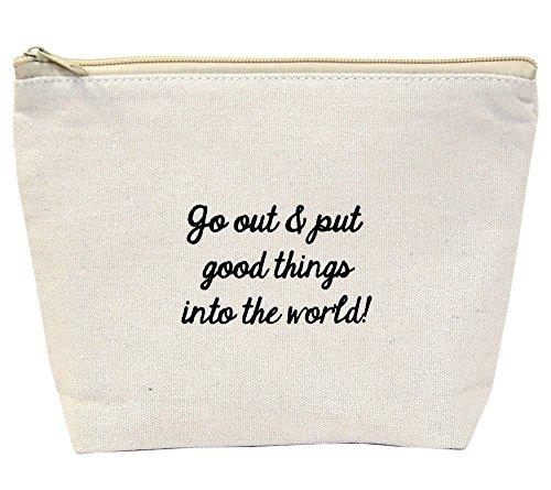 Jules Natural Canvas Tote Bag With Zipper Closure