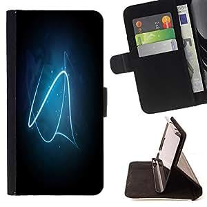 BullDog Case - FOR/Samsung Galaxy S3 III I9300 / - / Blue Neon Line /- Monedero de cuero de la PU Llevar cubierta de la caja con el ID Credit Card Slots Flip funda de cuer