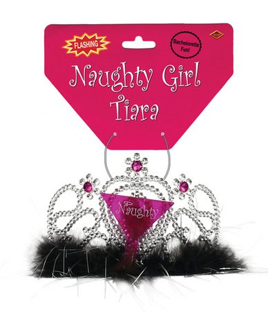 Bachelorette fun light-up naughty girl tiara---(Package of 4)