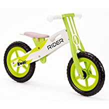 Kobe Green Rider Wooden Balance Bike, Green and White