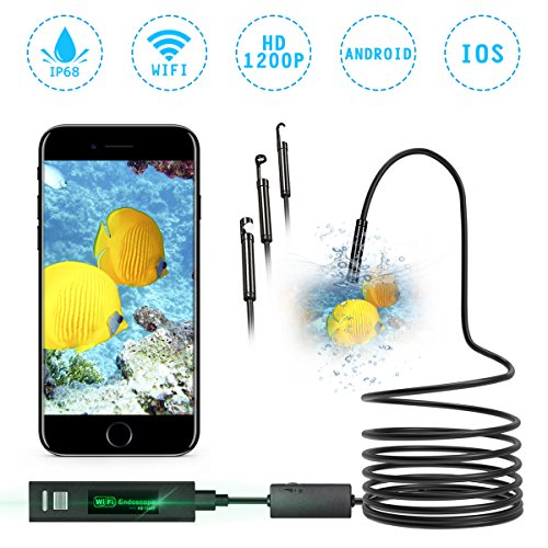 WIFI Endoscope 8mm NASUM 3 in 1 Waterproof Chargable Inspection Camera...