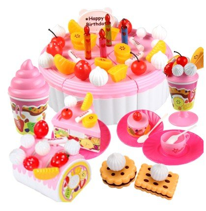 Children Play Toys Babys Birthday Cake And 3 To 7 Years Old Girl With 73 Pieces Amazoncouk Kitchen Home