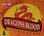 Dragon's Blood - Case of 12 Boxes, 10 Cones Each - HEM Incense From India