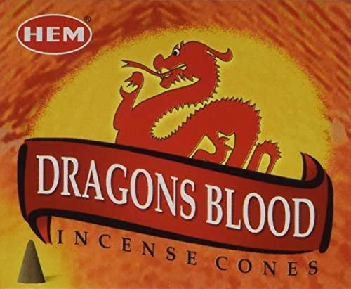 Dragon's Blood - Case of 12 Boxes, 10 Cones Each - HEM Incense From India - incensecentral.us