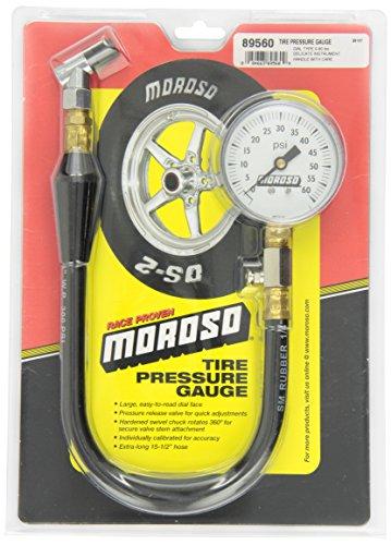 Price comparison product image Moroso 89560 Tire Pressure Gauge,  Dial Type,  0-60 psi