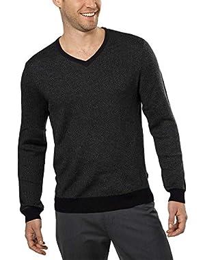Calvin Klein Men's Merino Wool V-Neck Sweater