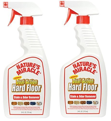Nature's Miracle Advanced Dual-Action Hard Floor Stain & Odor Remover (2-Pack)