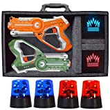 DYNASTY TOYS Camping Games - Laser Tag - Capture The Flag Complete Set. Glow in The Dark Outdoor Toys for Day and Night