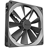 NZXT AER F - RF-AF140-D1 - 140mm - Winglet Designed Fan Blades - Fluid Dynamic Bearings - PWM Airflow Fans - Gaming Computer Fan - Twin Pack