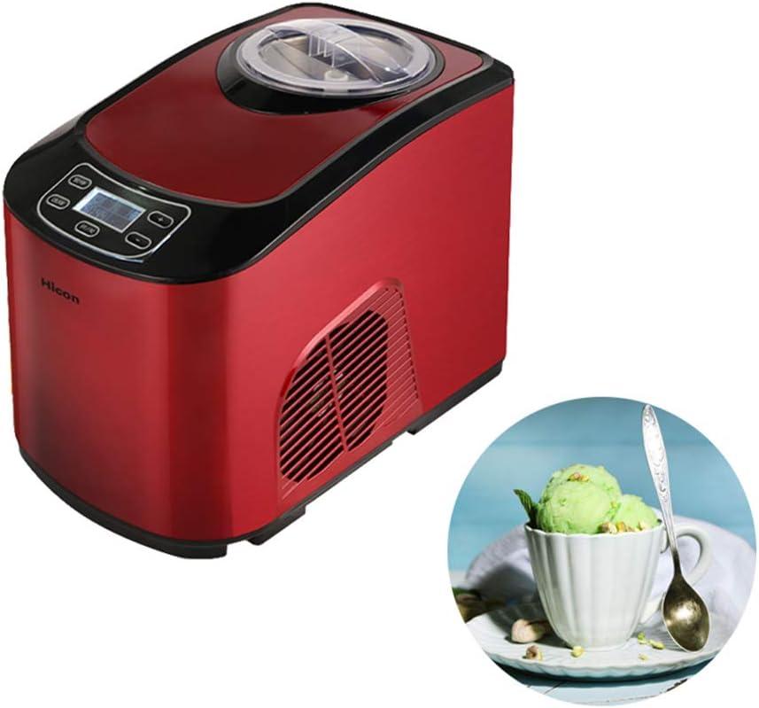 LUOER Máquina de Helados, Máquina de postres congelados automática y Saludable, Máquina para Hacer Yogurt de Frutas congeladas de 1.5L, Smart Touch, para el hogar y la pequeña Tienda de té con