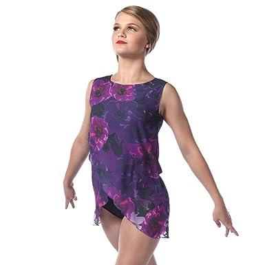 a85043f9743f8 Alexandra Collection Womens Reflections Crossover Lyrical Dance Costume  Dress Purple Adult Medium