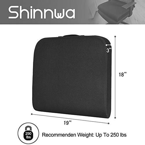 Seat Cushion for Office Chair, Wheelchair Seat Cushion Pad Memory Foam Extra Large Thick for Truck Drivers Relieving Back Tailbone Pain by Shinnwa by SHINNWA (Image #5)
