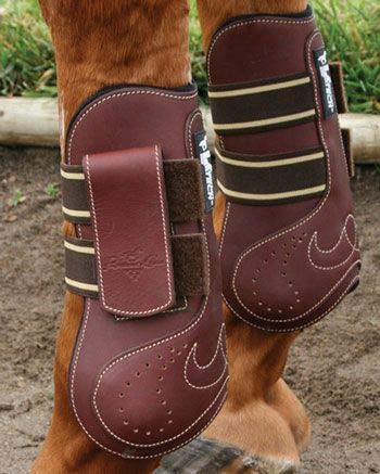 Professionals Choice Equine Ventech Leather Open Front Jumping Boot, Pair (Medium, Chocolate Brown)