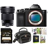 Sony Alpha a7S Mirrorless Camera (Body) w/ Sigma 30mm f/1.4 DC DN Lens Bundle