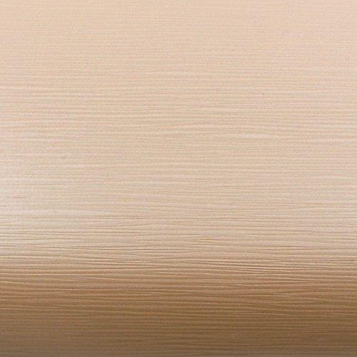 ROSEROSA Peel & Stick Backsplash Horizontal Teak & Stripe Wood Textured Vinyl Wall Paper Self-Adhesive Wallpaper Shelf Liner Table and Door Reform (MF5158-1 : 1.96 Feet X 6.56 Feet)