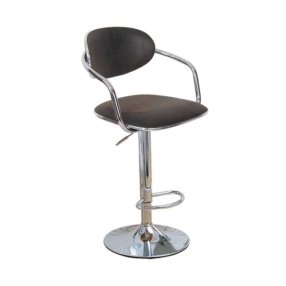 Mesurn JP レザーフェイクレザーワークスツールアームと背もたれ付き調節可能なガスリフト、椅子360°回転椅子 (色 : Retor Black, サイズ さいず : 38.5cm) B07DT1GJV8Retor Black 38.5cm