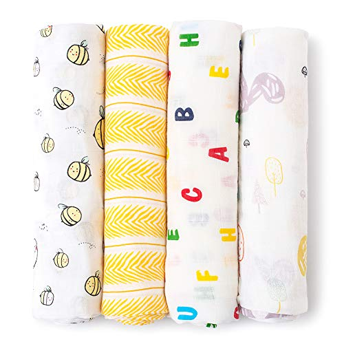 gonikm Baby Cartoon Printed Photography Backdrop Soft Baby Milesto Receiving Blankets