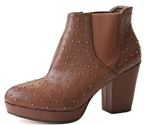 Tan BOOTS CUBAN HEEL ANKLE HEELED HIGH MID Style 8 BLOCK WOMENS COWBOY BOOTIES 3 SIZE LADIES 33 WESTERN WINTER Aw7qAUf