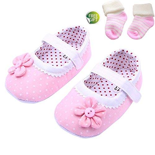 Ularmo Schuhe für 0-18 Monate Baby, Blumen-Baby-weiche Sohle Schuhe (S(0-6 Monate))
