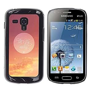 LECELL -- Funda protectora / Cubierta / Piel For Samsung Galaxy S Duos S7562 -- Let'S Fly Away Moon --