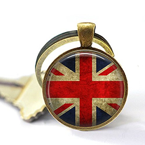 stap Union Jack British Flag - Keychain - Union Jack Jewellery - UK Flag Keychain - Great Britain Flag Keychain - Union Jack -