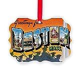 CafePress - Boston - Christmas Ornament, Decorative Tree Ornament