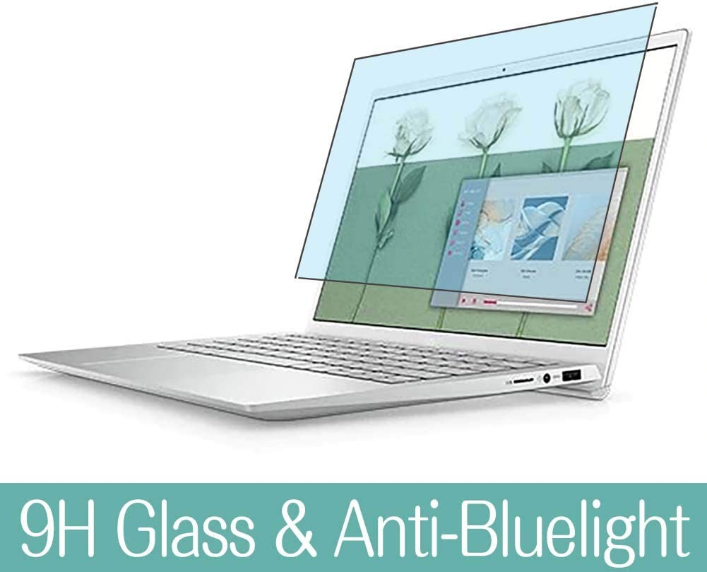 "Synvy Anti Blue Light Tempered Glass Screen Protector Compatible with DELL New Inspiron 13 5000 (5300) 13.3"" Visible Area 9H Protective Screen Film Protectors (Not Full Coverage)"