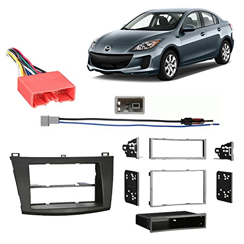 Fits Mazda Mazda3 2010-2013 Multi DIN Stereo Harness Radio Install Dash Kit ()