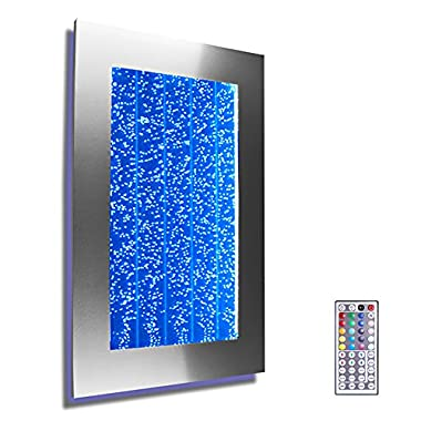 Wall Mount Hanging Bubble Wall Aquarium 30  LED Lighting Indoor Panel 300WM Water Fall Fountain Water Feature