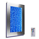 Wall Mount Hanging Bubble Wall Aquarium 30'' LED Lighting Indoor Panel 300WM Water Fall Fountain Water Feature