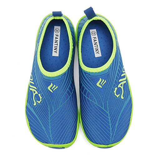 CIOR Kids Water Shoes Quick-Dry Boys and Girls Slip-On Aqua Beach Sneakers (Toddler/Little Kid/Big Kid),W20,J.Blue,29 2
