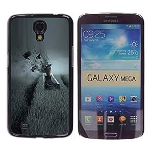 Caucho caso de Shell duro de la cubierta de accesorios de protección BY RAYDREAMMM - Samsung Galaxy Mega 6.3 - dark side pole vorony devushka