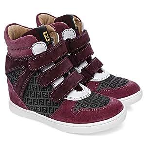 Fendi 4BA546 High Cut Sneaker for Girls - 24 EU, Purple