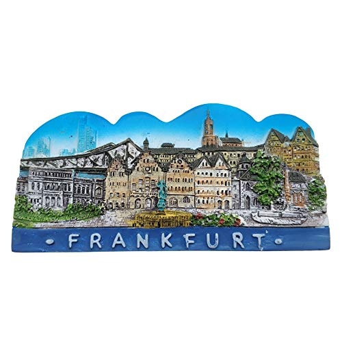 Refrigerator Magnets Resin 3D Funny Frankfurt Germany City Tourist Souvenirs Fridge Stickers Magnetic Fridge Magnet for Whiteboard Home Kitchen Decoration Accessories Arts Crafts Gifts